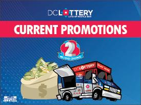 Current promotions image with a truck and money bag